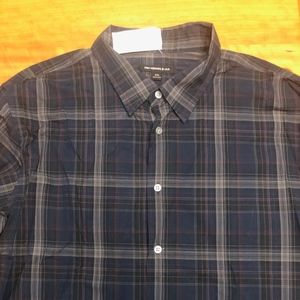 John Varvatos Star USA Navy Plaid Shirt - Sz XXL